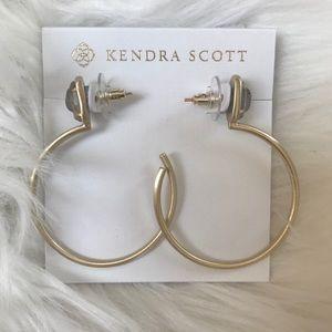 NWT Kendra Scott Small Pepper Gold Hoop Earrings